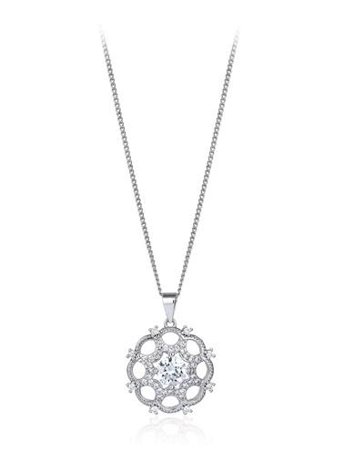 1,40 Ct Pırlanta Efekt Altın Artdeco Valeria Kolye-Tophills Diamond Co.